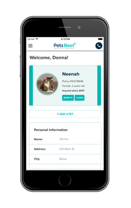 Pet Health Insurance Mobile App From Pets Best