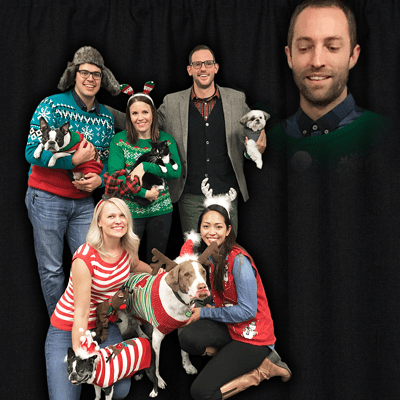 Your pet holiday photo is sure to be better than ours. See more cute pet photos on our Instagram!