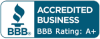 accredited business bbb rating:a